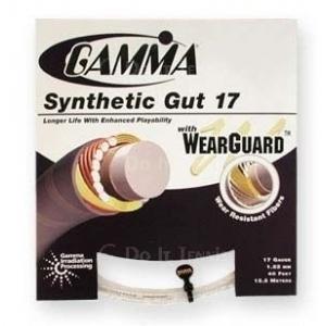 Теннисные струны Gamma Synthetic Gut 17 Wearguard купить