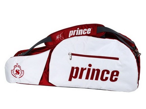 Стильная сумка для теннисных ракеток Prince.  Имеются внешние карманы и...