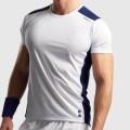 Теннисная одежда для большого тенниса Nordicdots Performance T-Shirt White/Navy